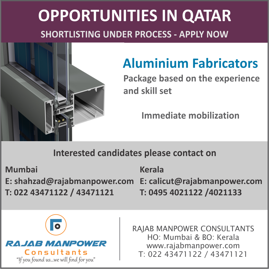 Aluminium Fabricators OPPORTUNITIES IN QATAR