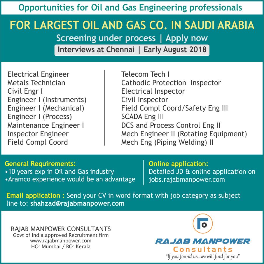 Saudi Aramco Jobs 2018