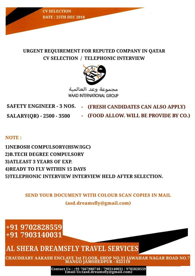 Nebosh Safety Officer Salary In Qatar