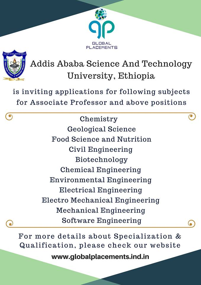 Applications Invited for Addis Ababa Science and Technology