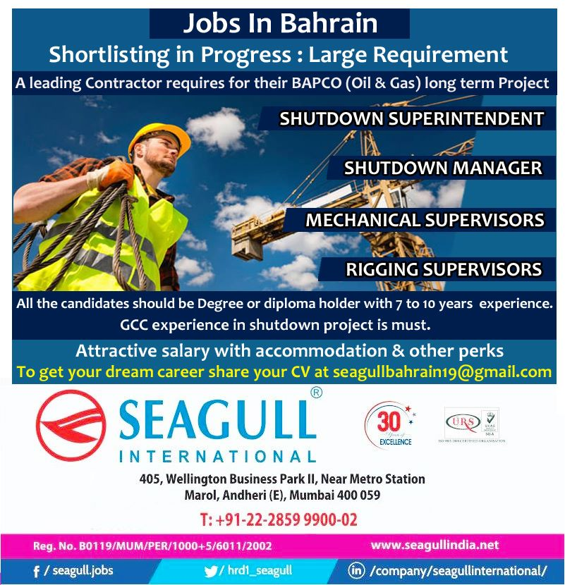 Bahrain - Leading Contractor Requires For Their BAPCO (Oil & Gas