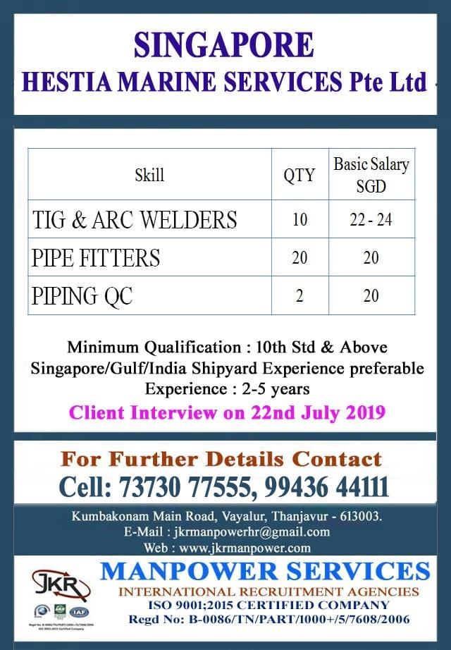 SINGAPORE HESTIA MARINE SERVICES Pte Ltd