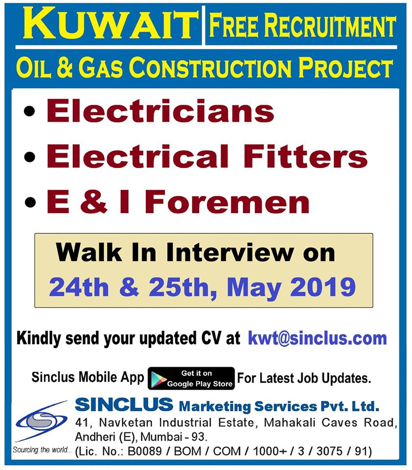 Free Recruitment For Kuwait - Oil & Gas Construction Project