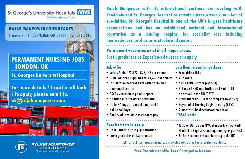 Recruitment for UK - Experienced Or Fresh Graduate Nurse