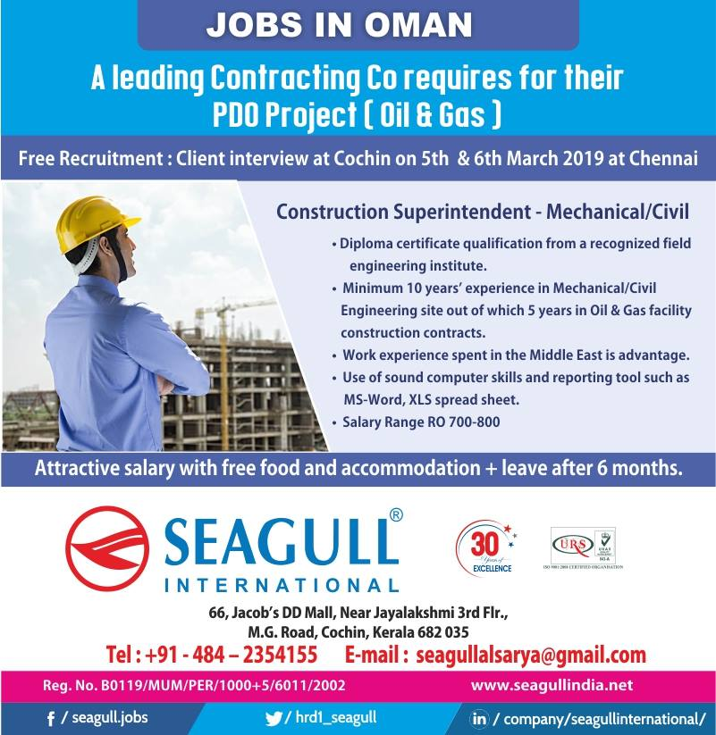 Free Recruitment by Leading Contracting Co for their PDO