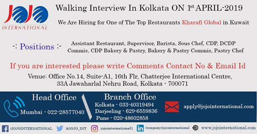 Hiring for One of the Top Restaurants Kharafi Global in Kuwait