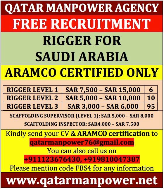 Free Recruitment For Saudi Aramco Contractor
