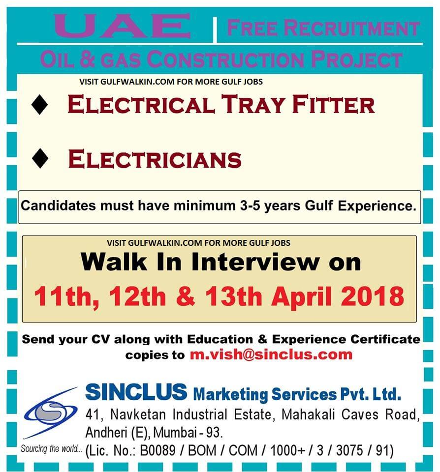 Free Recruitment – Electrical Jobs for Oil & Gas