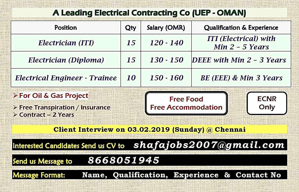 A Leading Electrical Contracting Co (UEP - OMAN)