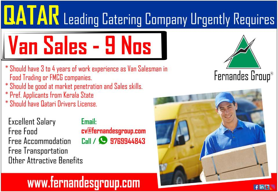 Hiring for - Leading Catering Company In Qatar