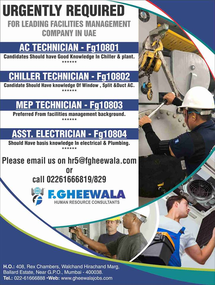 Technicians / Electricians for Leading Facility Management