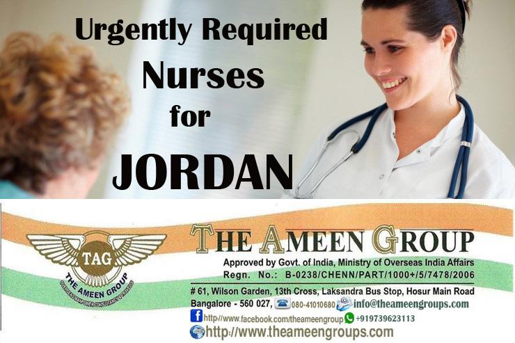 Female Nurses in Hospital for JORDAN-SL 1000 USD-1500 USD