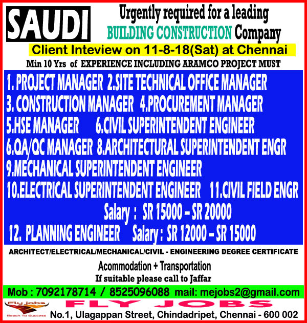 managers for Saudi Aramco