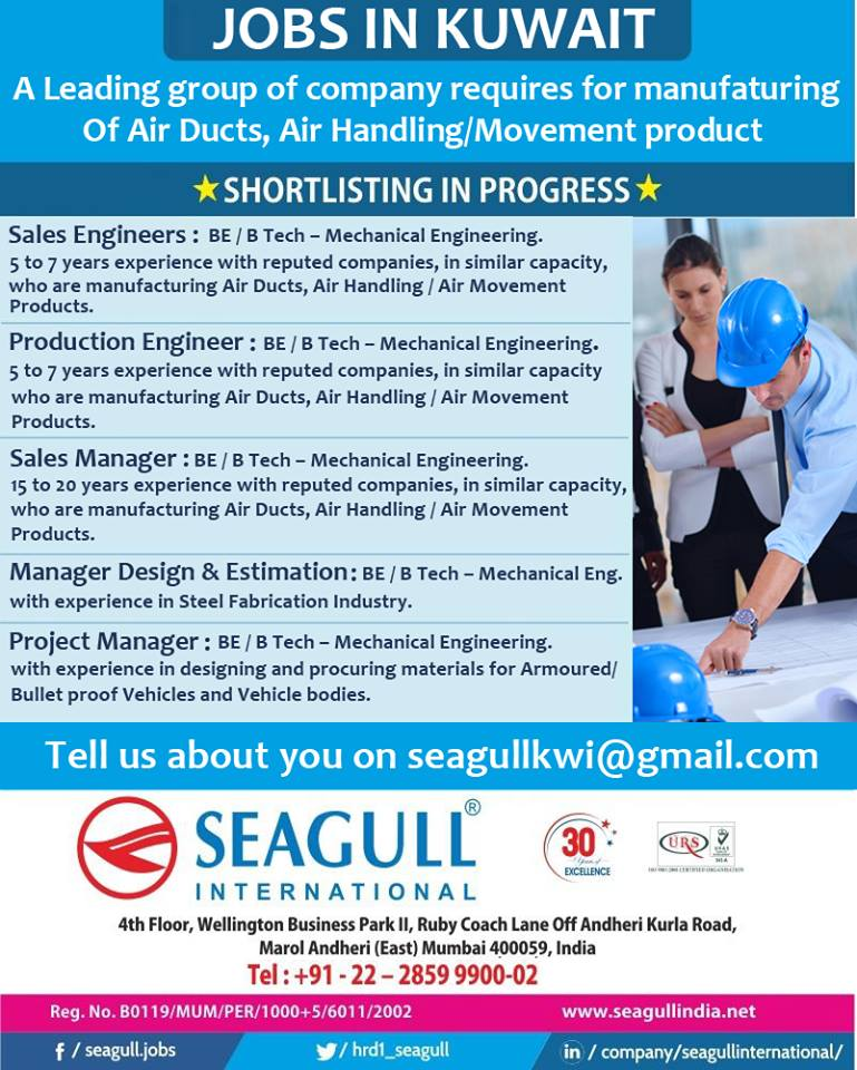 Hiring For Kuwait - Leading Group of Company Requires for