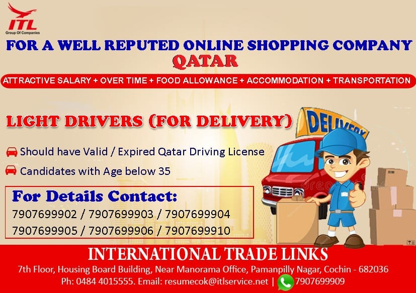 Requirement for a Well Reputed Online Shopping Company in Qatar