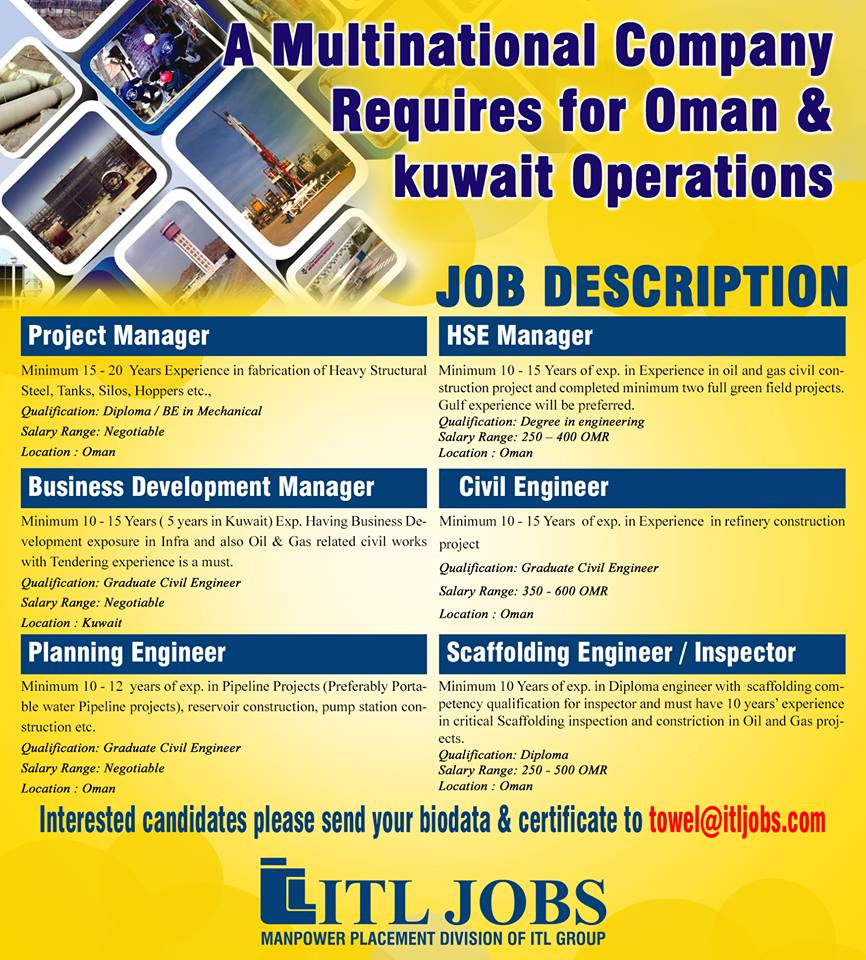 Towell Engineering Requirements for Oman & Kuwait Operations