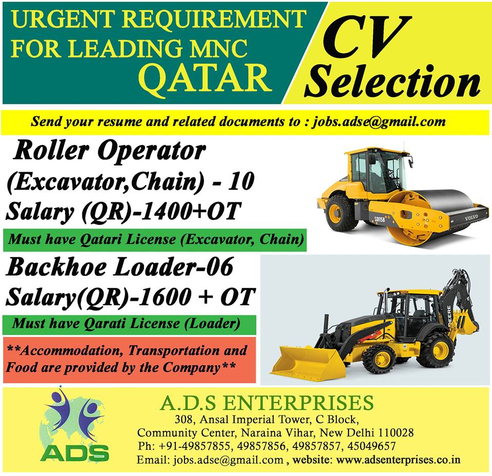 URGENT REQUIREMENT FOR LEADING MNC QATAR