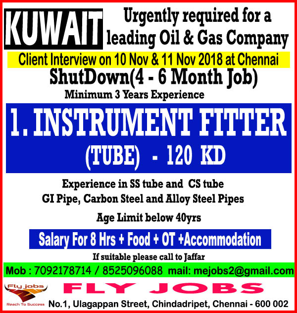 A JOB OPENING FOR KUWAIT