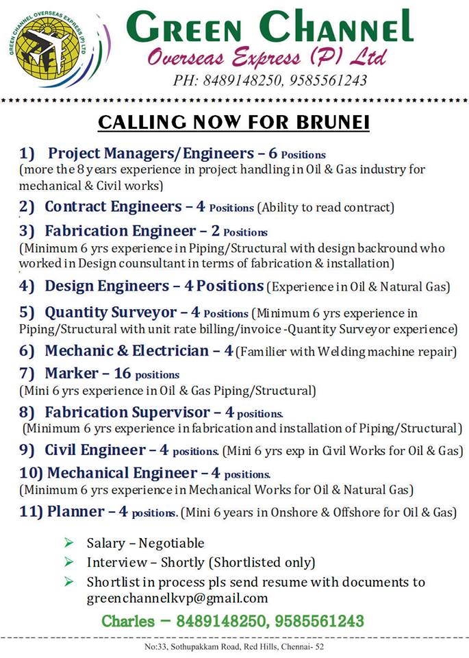 Jobs In Brunei