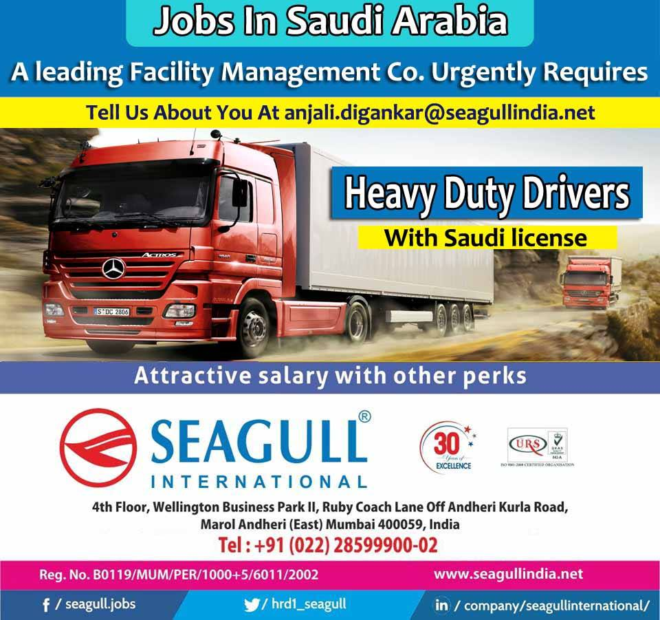 Heavy Duty Drivers for Leading Facility Management Company in Saudi