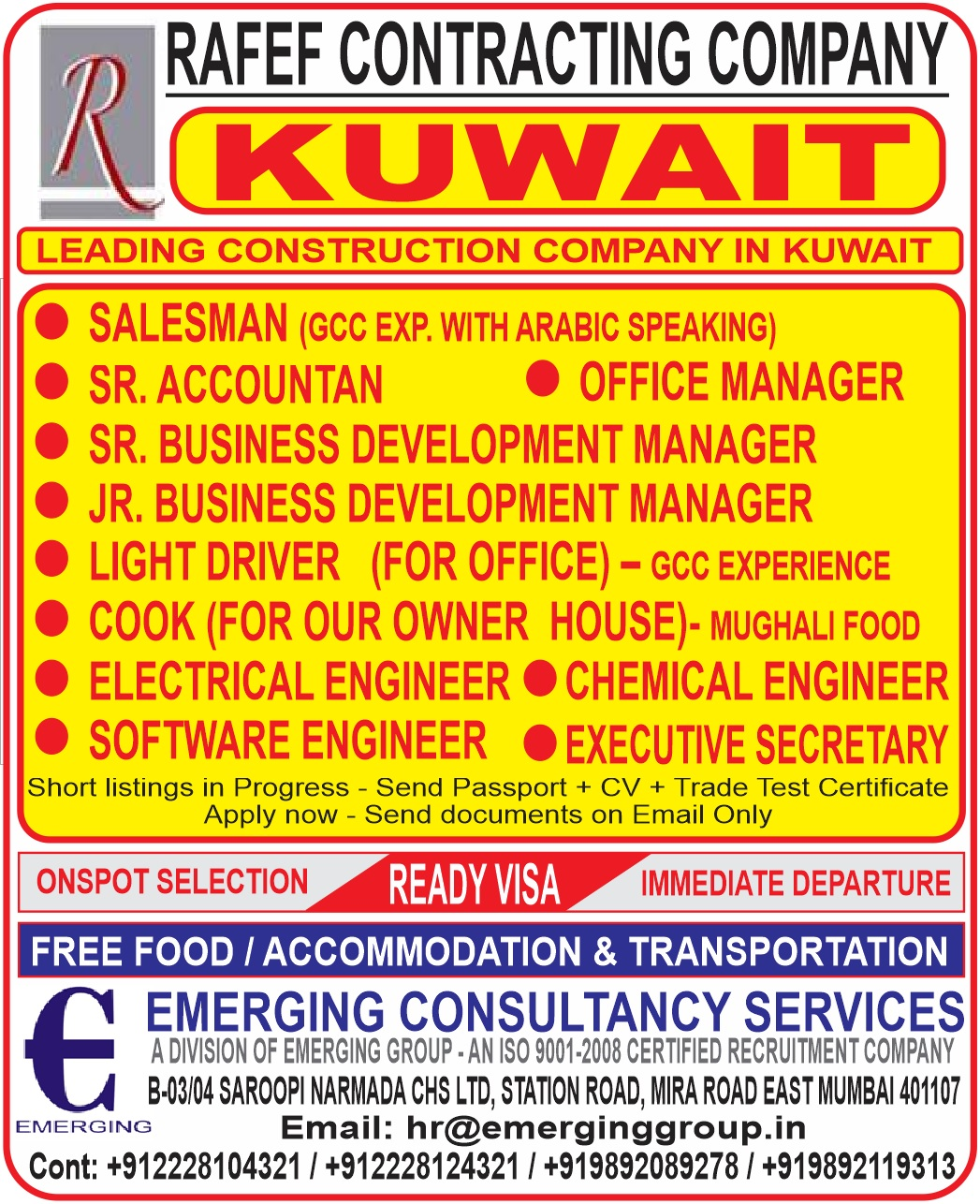 Leading Construction Company - Rafef Contracting Company