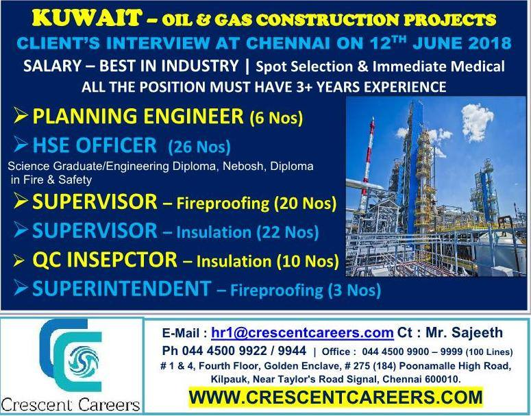 KUWAIT — OIL & GAS CONSTRUCTION PROJECTS