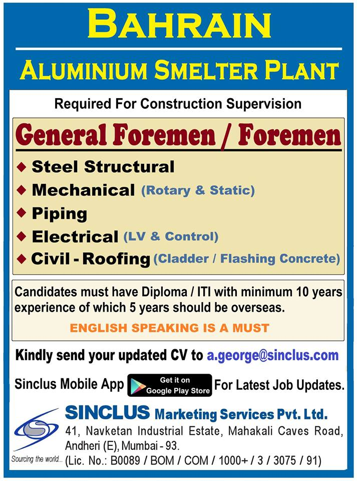 Formen for Aluminium Smelter Plant in Bahrain