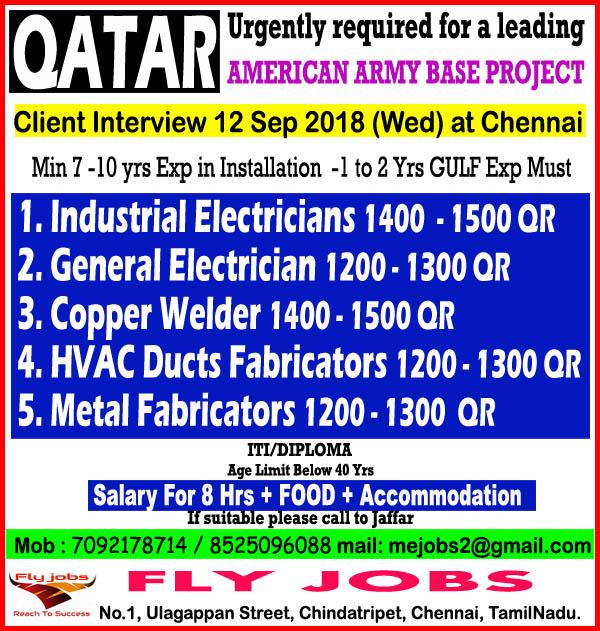 Job Opening for QATAR