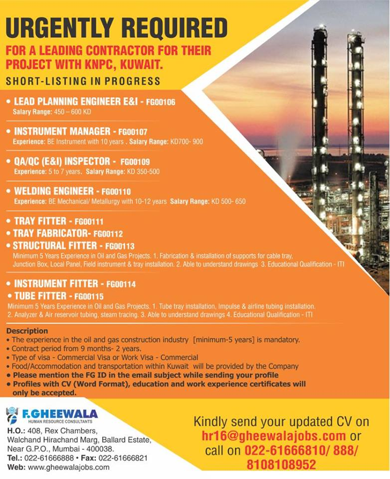 LEADING CONTRACTOR FOR THEIR PROJECT WITH KNPC, KUWAIT
